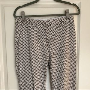 Patterned Tapered Leg Trousers